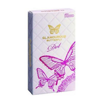 Hộp bao cao su Glamcurous Butterfly Dot 8 chiếc cao cấp chính hãng