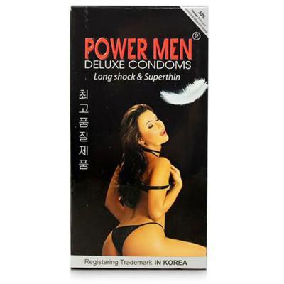 Hộp bao cao su Power Men Long Shock 12 chiếc siêu mỏng chất lượng cao